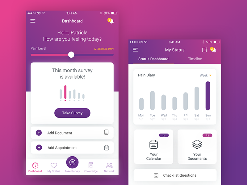 app for medical research dashboard survey research medical collecting data mobile app