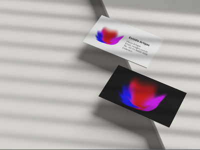 business card logodesign petal flower business card branding logo illustration art minimalist minimal design
