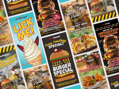 Roadhouse Promotional Tentcards