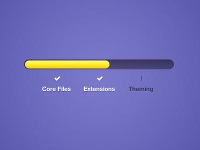 Vibrant Sectional Progress Bar purple yellow progress bar ui unique