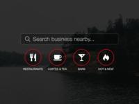 Yelp iOS Today Widget yelp widgets user interface
