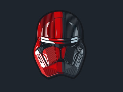 709th Legion, the RED FURY stormtrooper starwars character geek flat color illustrator illustration vector design