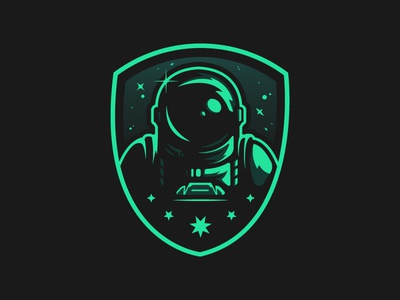 PATHFINDER BADGE (GREEN VERSION) badge logo badge scifi spaceman space logo cool geek flat graphicdesign color illustrator illustration vector design