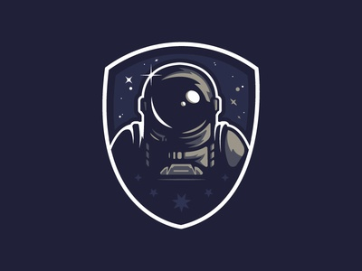 PATHFINDER BADGE (original version) retro scifi spaceman space logo cool geek flat graphicdesign color illustrator illustration vector design