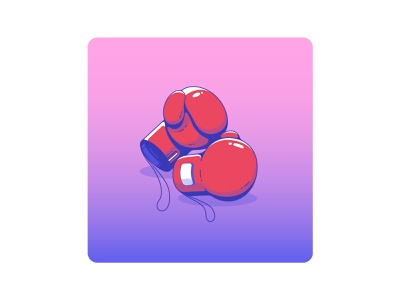 Prepared for another day battle fight boxer boxing sports sport badge icon degraded 2d ui illustrator graphicdesign color flat vector illustration logo graphic design