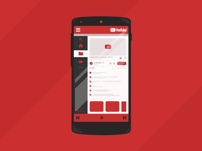 Youtube App Dark Theme grid graphicdesing design color illustration vector flat smartphone app uiux youtube