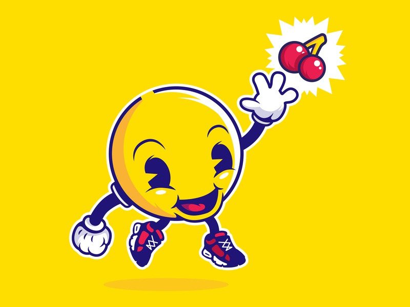 PACMAN cool pacman videogames retro geek character graphicdesign illustrator color illustration vector design