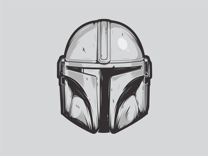 The Way of Mandalore geek character flat design graphicdesign scifi illustrator vector mandalorian mando baby yoda helmet the mandalorian star wars