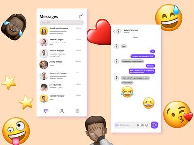 Direct Messaging | Daily UI Challenge 012 dribbble social messenger ux app ui design dailyuichallenge dailyui daily 100 challenge