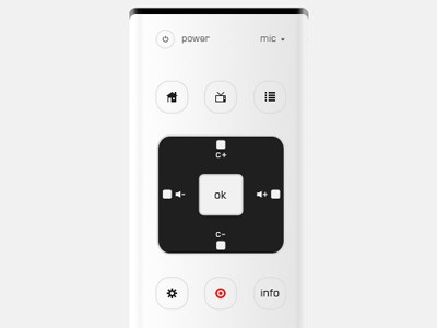 Redesigning the TV Interface remote control television tv interface user buttons