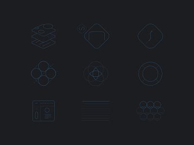 D4Design Studios Icons Set webdesign thin lines style iconset icons design d4design