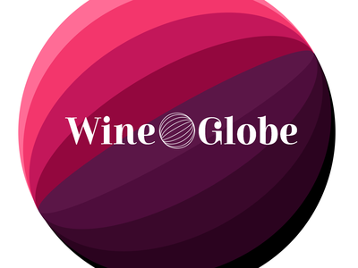 WineGlobe Winery onlineshop winery wine branding vector typography illustration logo design