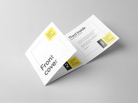 Trifold Square Flyer Mockup