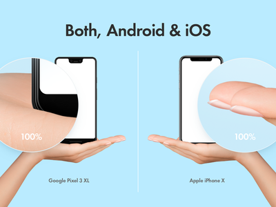 Hands with iPhone Mockups