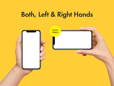 Sleek Hands Holding iPhone X