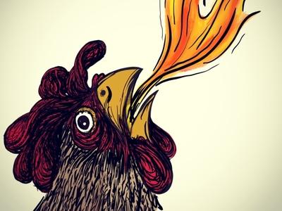 Pollo del Feugo procreate app illustration