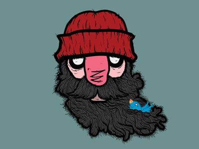 Burly Birdie Bonding beard beanie