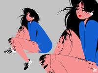 Character design vector webdesign person portrait illustration woman girl hair face design businesswoman business character design character