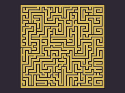 The Maze illustration vector labyrinth maze
