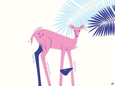 My little deer pony panites monster animal illustration vector sexy deer