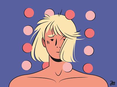 A girl next door #3 girlpower women flat people blonde woman girl character design hair character vector illustration