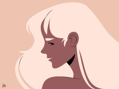 The girl hair woman portrait woman illustration profile portrait portrait profile woman girl character vector illustration