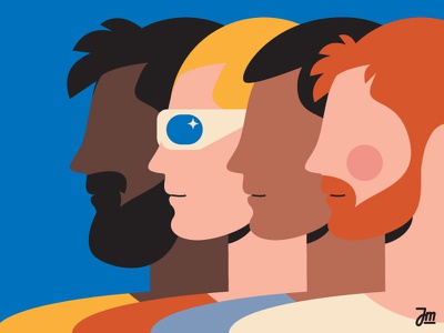 Equality 1/2 design vector man illustration hair flat character design character rainbow equality men people