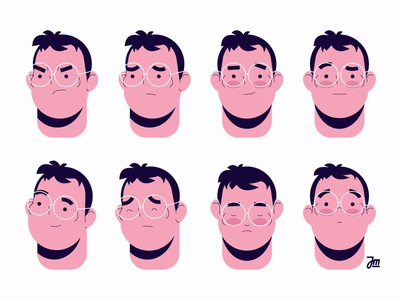 Faces angry sad happy character design facial expressions charachter heads head boy man faces face