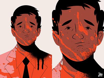 Man Down eyes avatar fashion hair boy blood men man portrait head design face character design character