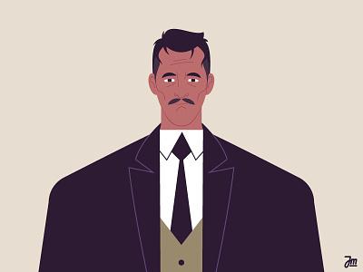 Work in progress - Businessman portrait business businessman suit gentleman animation people design face hair man character design character illustration