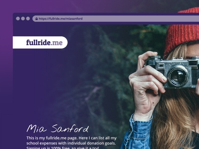 fullride.me Poster Design crowdfunding chrome browser web design poster