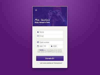 Donation Pop-Up modal form donation payment pop-up stripe