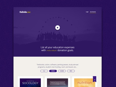 fullride.me Relaunch/Redesign