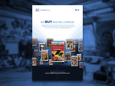 CollectorsComics Flyer WIP collectible print ads print ad print comic comic book art comic book comicbooks comicbook flyer designs flyer artwork flyer design flyer
