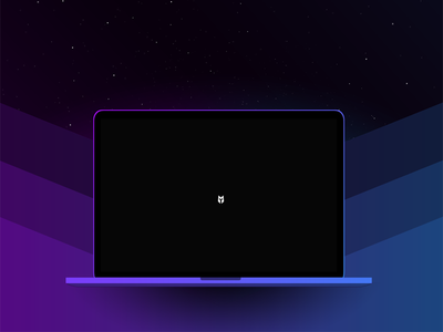 Playing with colors in Photoshop ui design coming soon splashpage laptop mockup display font laptop blue purple space concept idea wip mockups mockup mock-up photoshop art photoshop