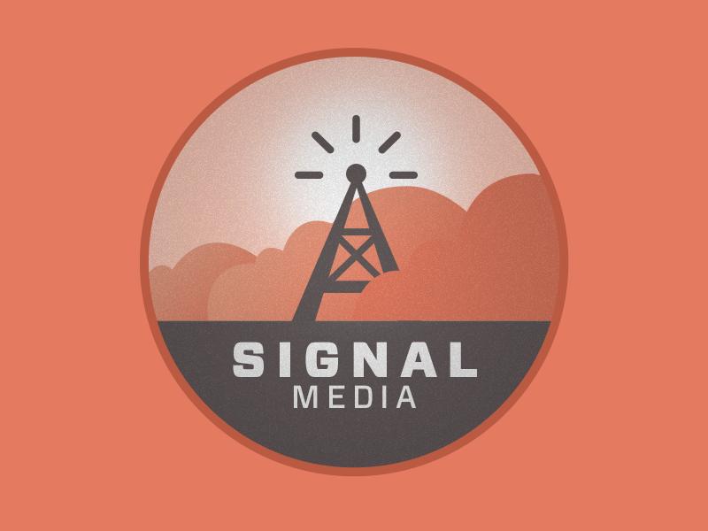 Signal retro cool modern vector logo oldschool vintage