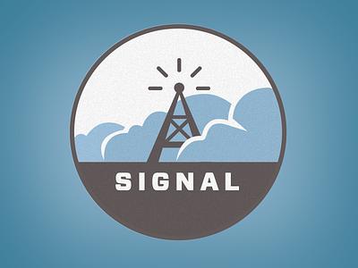 Signal Alt cool logo modern oldschool retro vector vintage blue