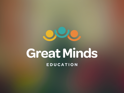 Great Minds learning education school kids awards young playful fun logo