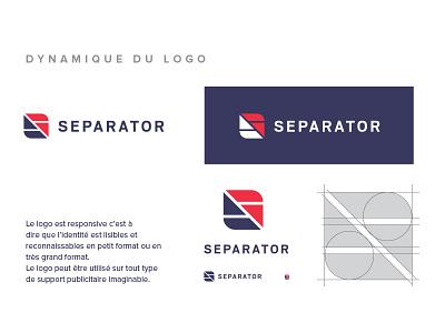 SEPARATOR logo design logo logotype branding logo design