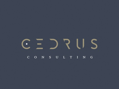 Cedrus consulting typography minimal logotype branding logo design