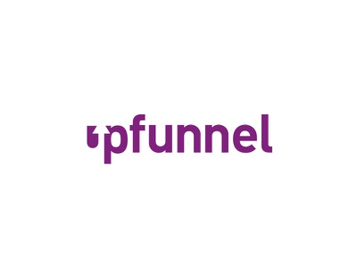 Upfunnel negative space web logo minimal logotype branding logo design
