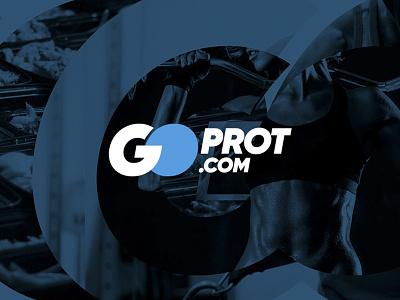 Goprot logo supplement fitness nutrition sport web logo monogram branding logo design