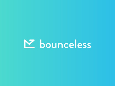 Bounceless icon minimal logotype branding logo design