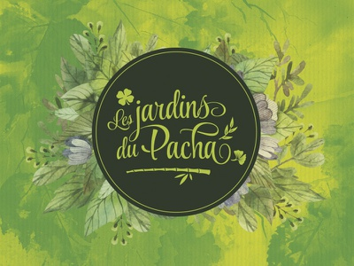Les jardins du Pacha lettering logotype branding logo design