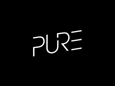 Pure nightlife event logotype branding logo design