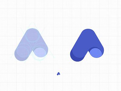 Logo process icon monogram process logo design