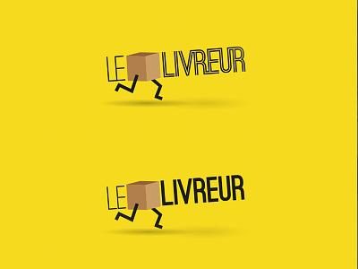 Le Livreur illustration minimal proposal logo design