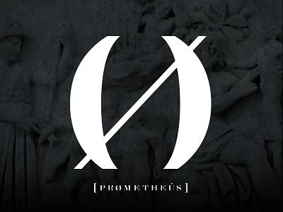 Prometheus logo mythology music label typography nightlife event logotype branding logo design