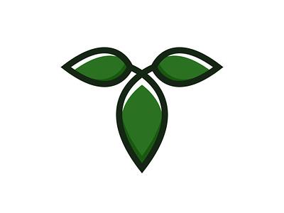 Letter T Leaf Logo modern green t initial alphabet letter plant leaves leaf natural nature illustration exclusive vector logo branding design
