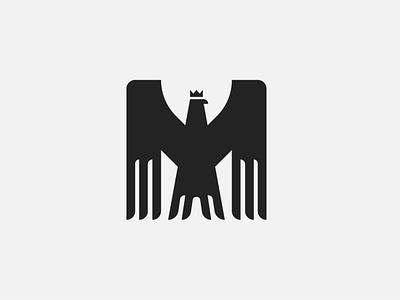 Mighty Eagle Logo black m alphabet letter mighty geometry shape square modern fly hawk eagle bird animal exclusive illustration vector logo branding design